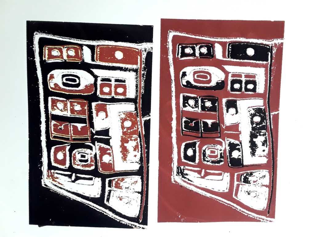 Chilkat Blanket silkscreen print series print 1
