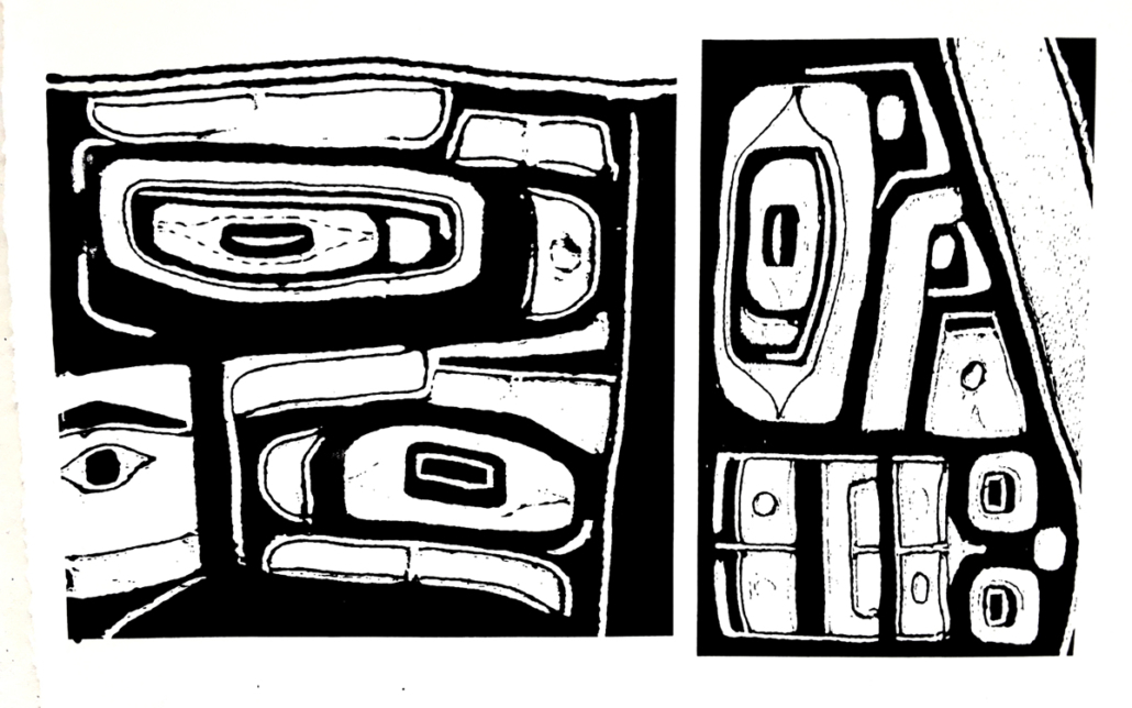 Chilkat Blanket silkscreen print series print 3