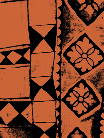 Maranao Textile source image detail in Photoshop